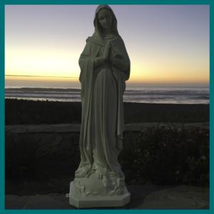 Virgen de la Misericordia 85cm bl ext