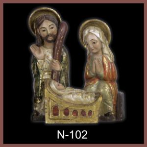 N-102 Nacimieto románico unido 24x20x11cm